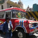 ラパス市内の移動はミクロとミニバスが便利